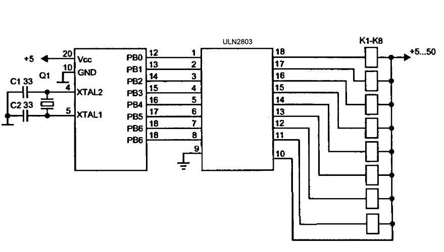 External Power supply schema (Relays could not be driven