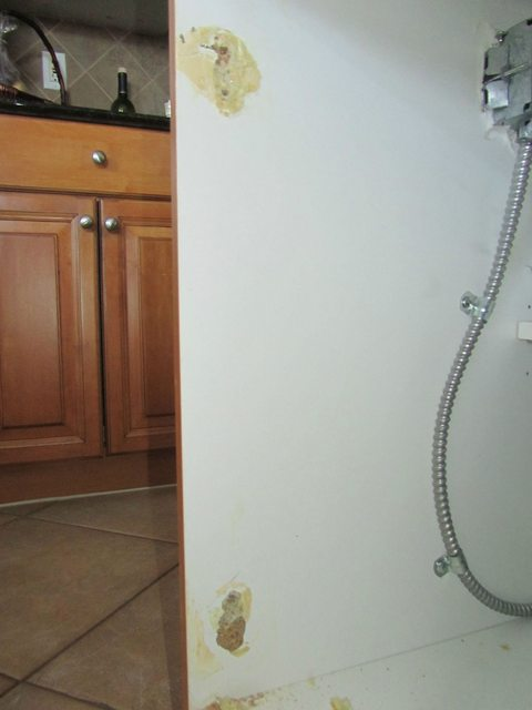 island kitchen widespread faucet is my cabinet door beyond repair? - home ...