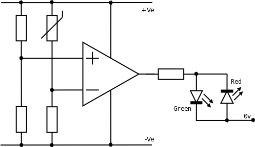 How do you set the reference voltage for a comparator
