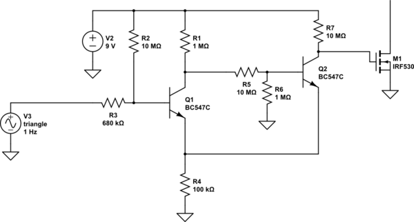 Low power way to switch on MOSFET with ~100mV input singal