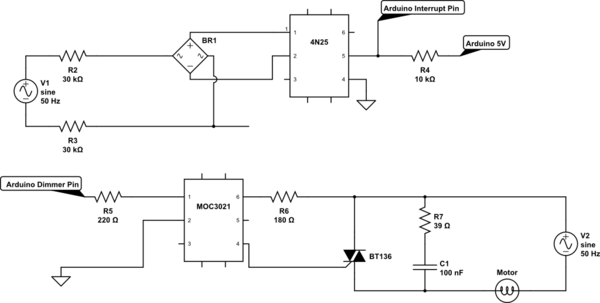 Phase Cut To Control Speed Of AC Induction Motor With