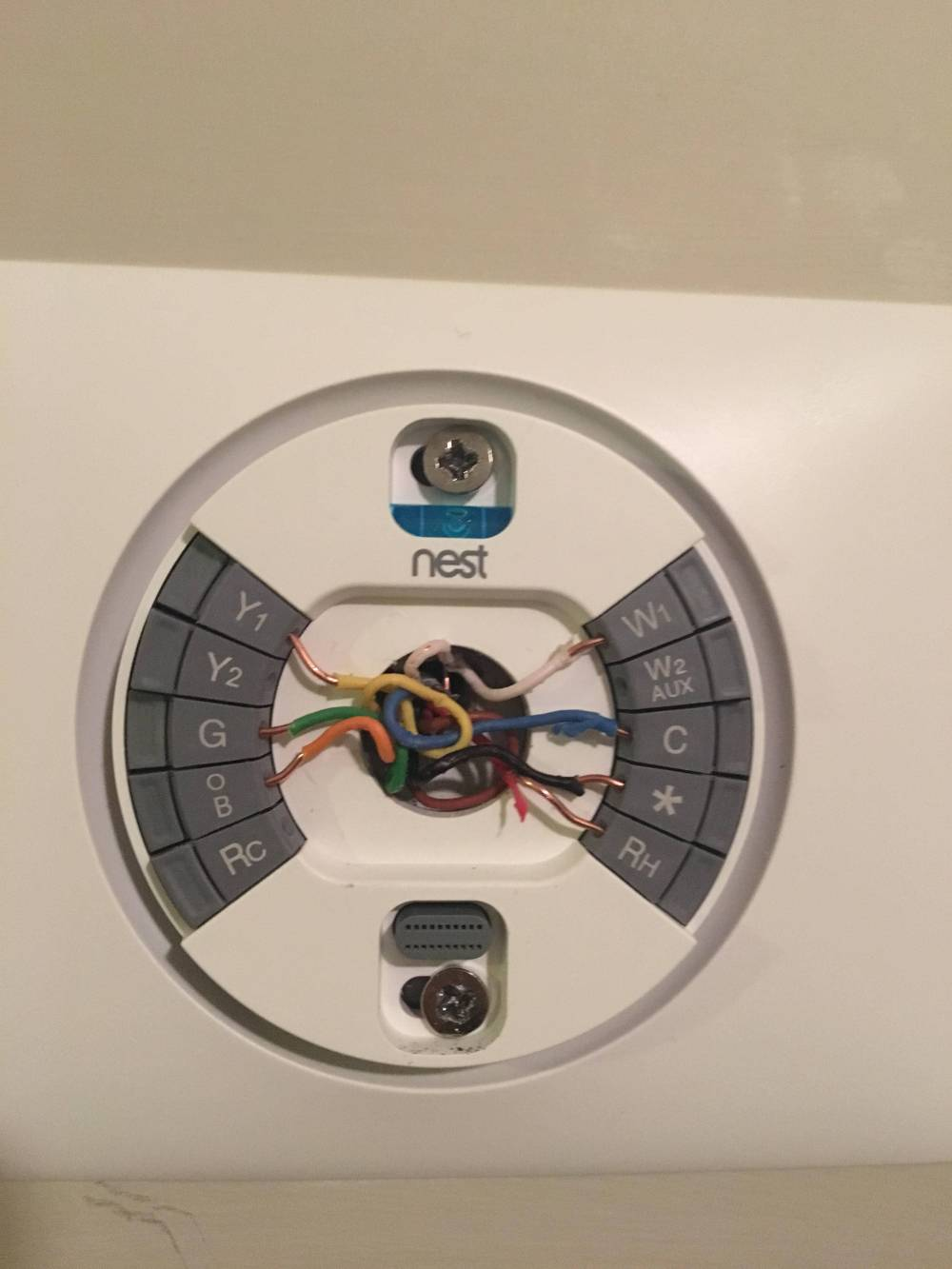 medium resolution of installing nest 3rd generation thermostat from old trane weathertron thermostat mercury one