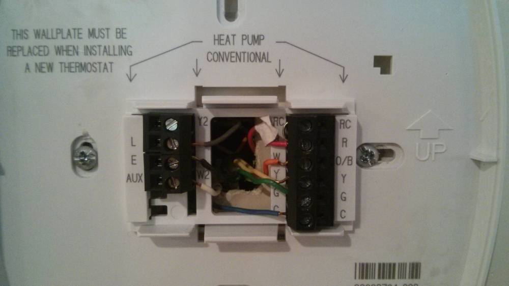 medium resolution of old york thermostat new thermostat honeywell rth 8500