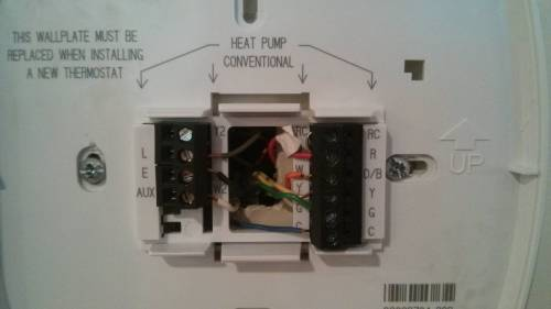 small resolution of old york thermostat new thermostat honeywell rth 8500