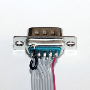 wiring  Why bridge the GND wire on a DE9 connector