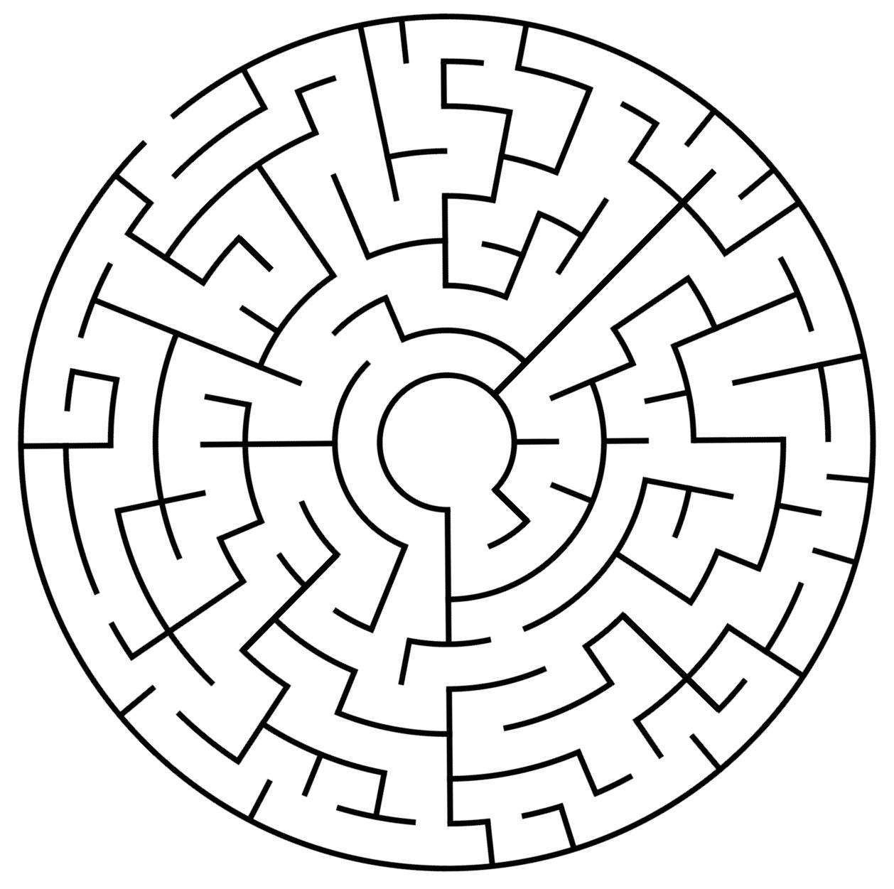 Cookie Maze Worksheet