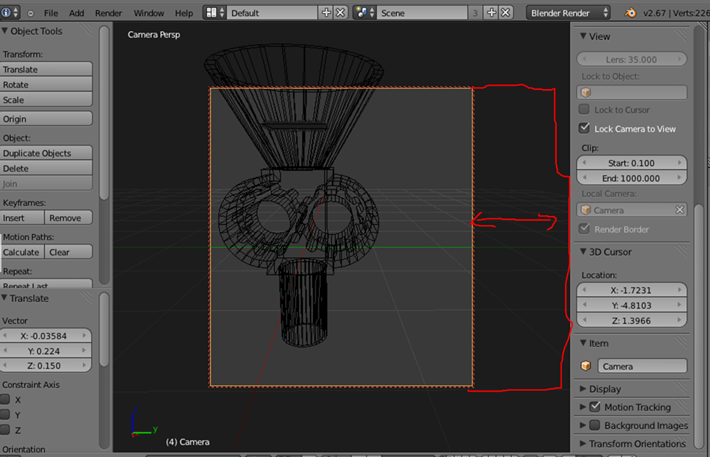 Rendering How To Scale The Cameras View Bounds Blender Stack Exchange