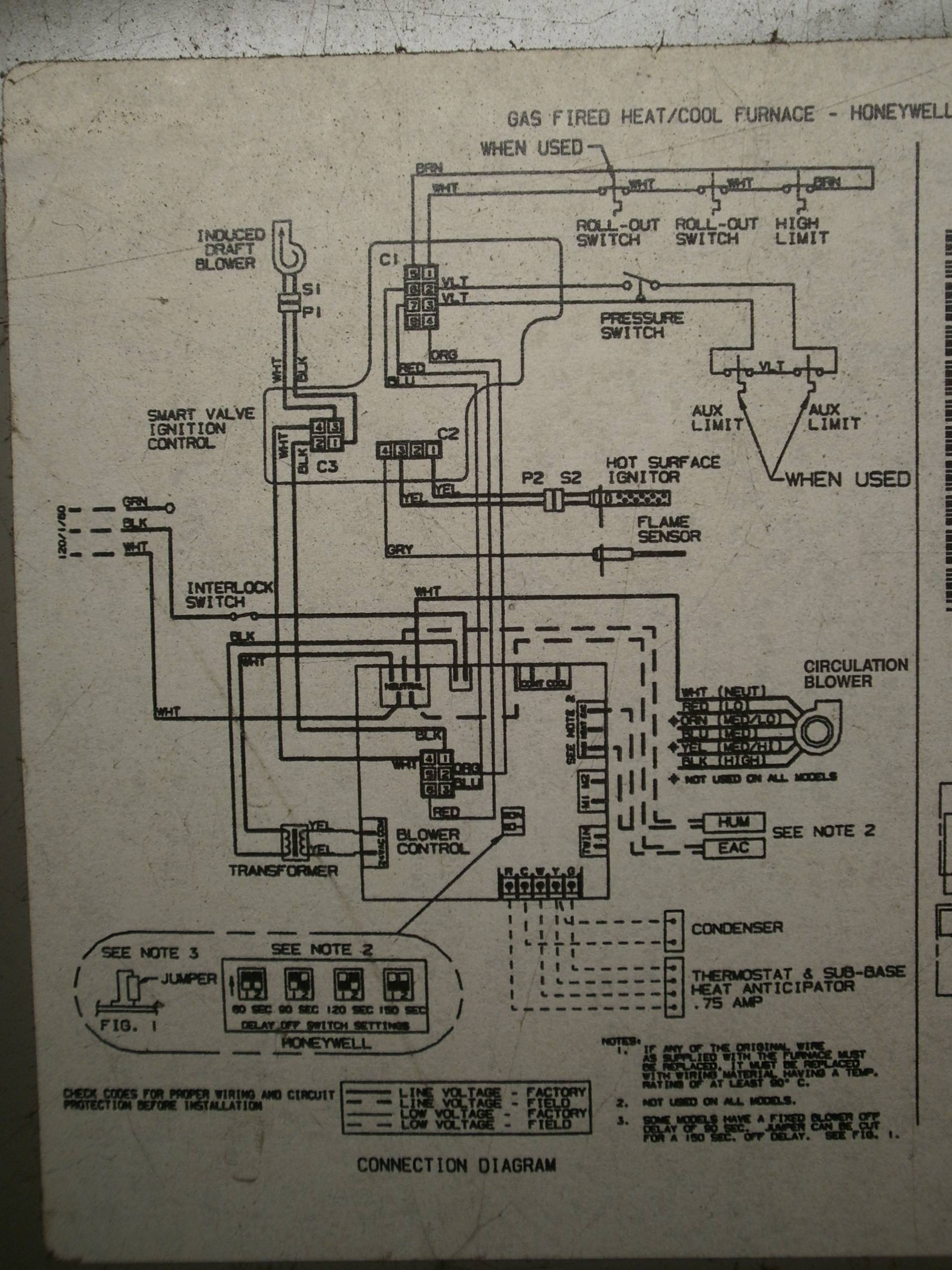 Wiring Diagram Trouble Matching Lennox Wiring To Honeywell