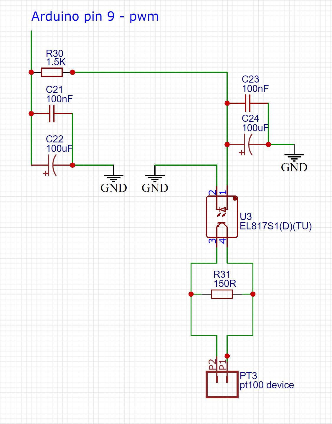 hight resolution of using arduino to simulate a pt100 temperature sensor