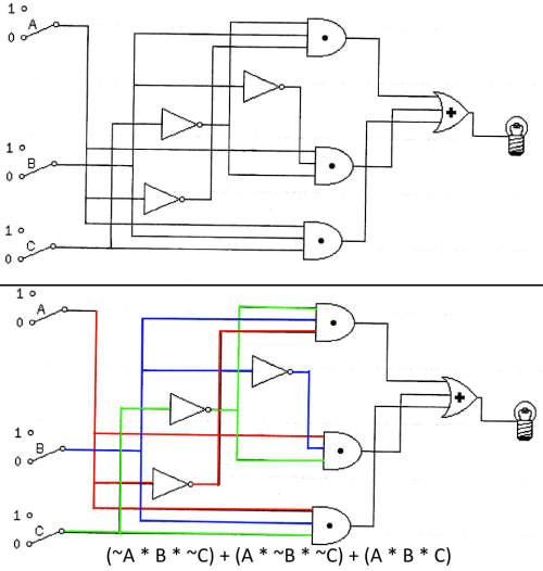 small resolution of write logic gate equation from circuit electrical engineering ladder diagram logic gates enter image description here