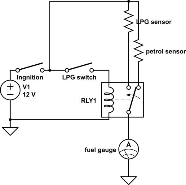 fuel level gauge schematic