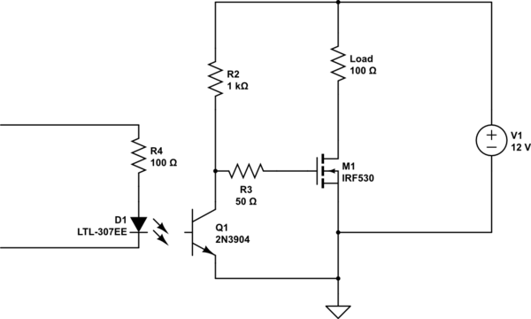 problem with driving the mosfet through optocoupler