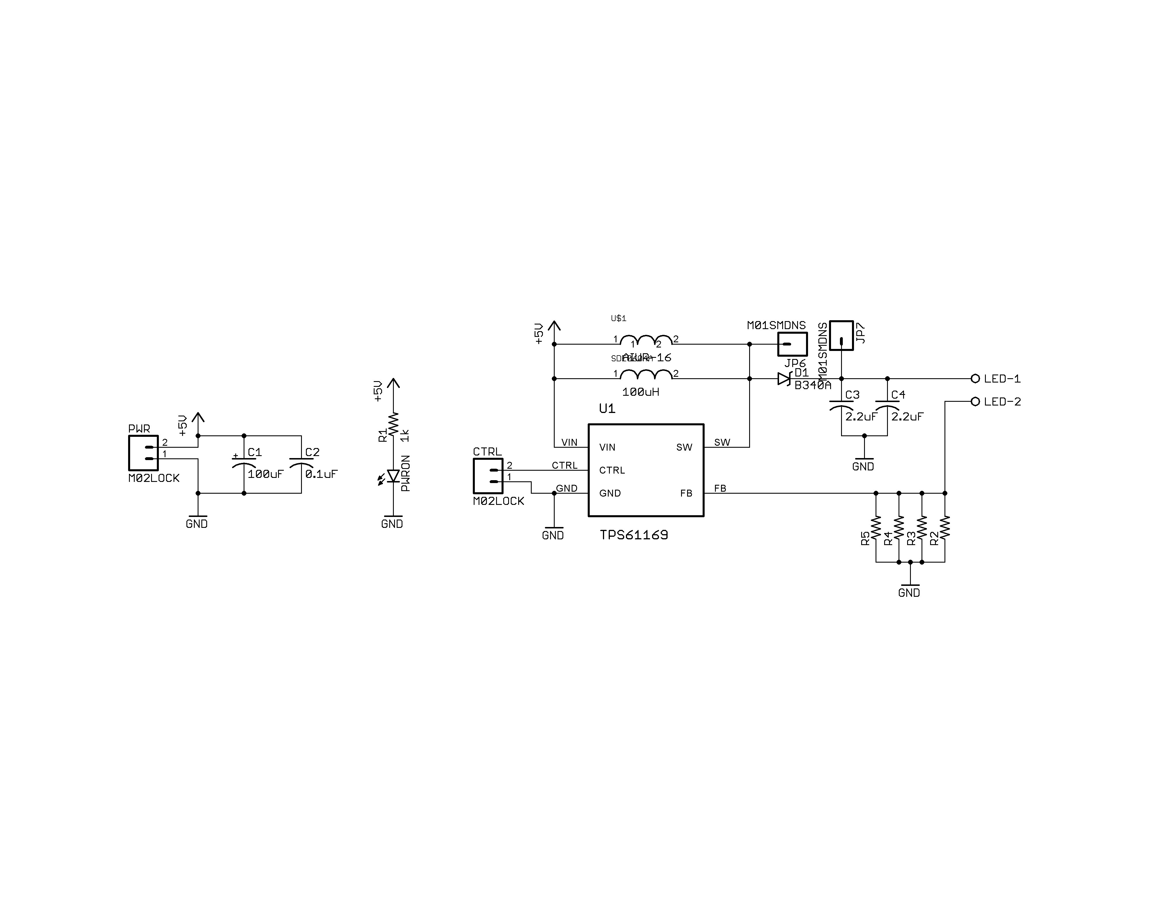 TPS61169 LED Driver Not Functioning