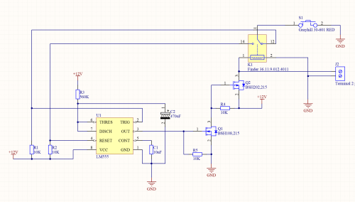 small resolution of 555 timer in monostable mode with reset on the same momentary button