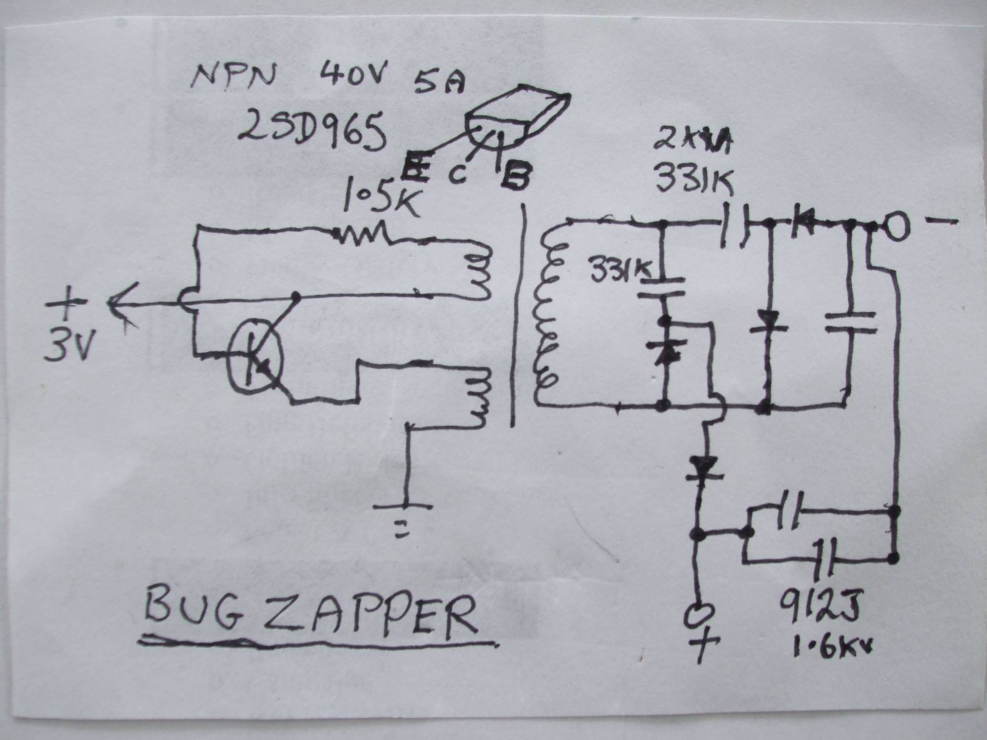 hight resolution of  zapper circuit diagram stinger bug documents enter image description here