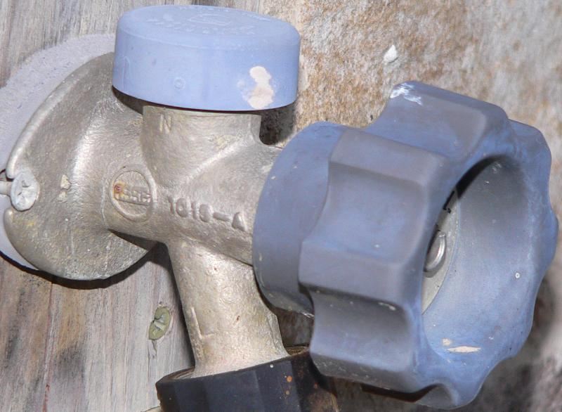 leaky anti siphon valve on exterior