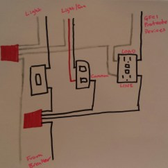 Double Outlet Wiring Diagram Mk1 Golf Cabriolet Electrical Taking Power From Light Switch To Gfci Enter Image Description Here