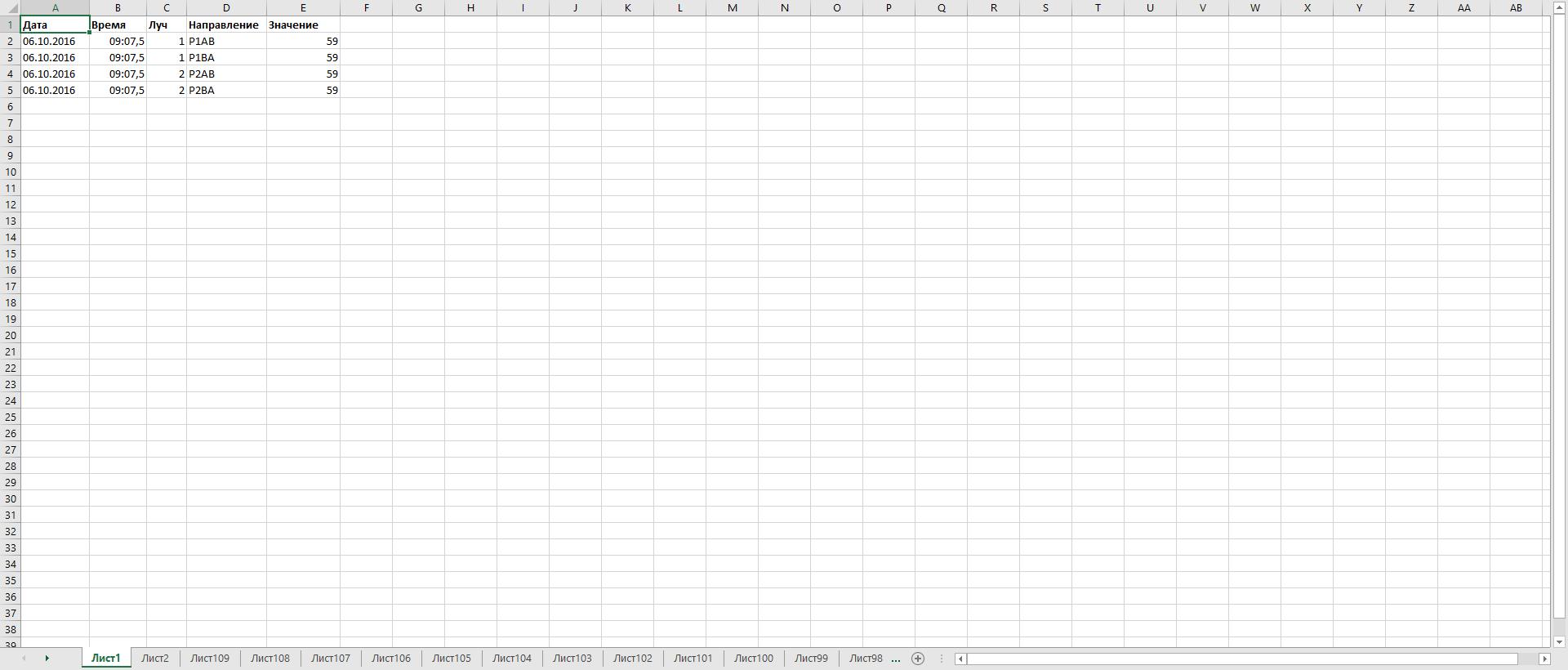 Excel Worksheet Limits