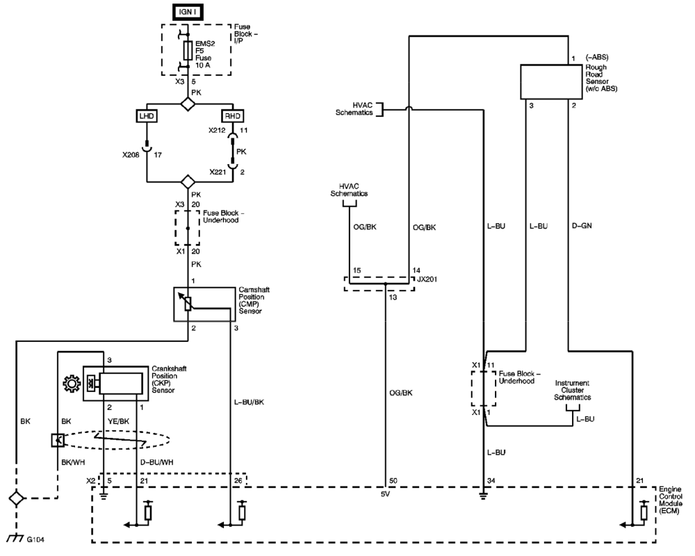 medium resolution of 2wire camshaft position sensor diagram wiring diagram local 3 wire crank sensor diagram