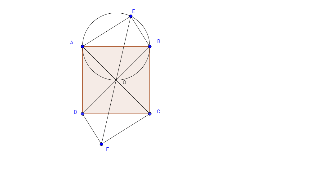 Geometry Problem Concerning Lengths with a Square and Two