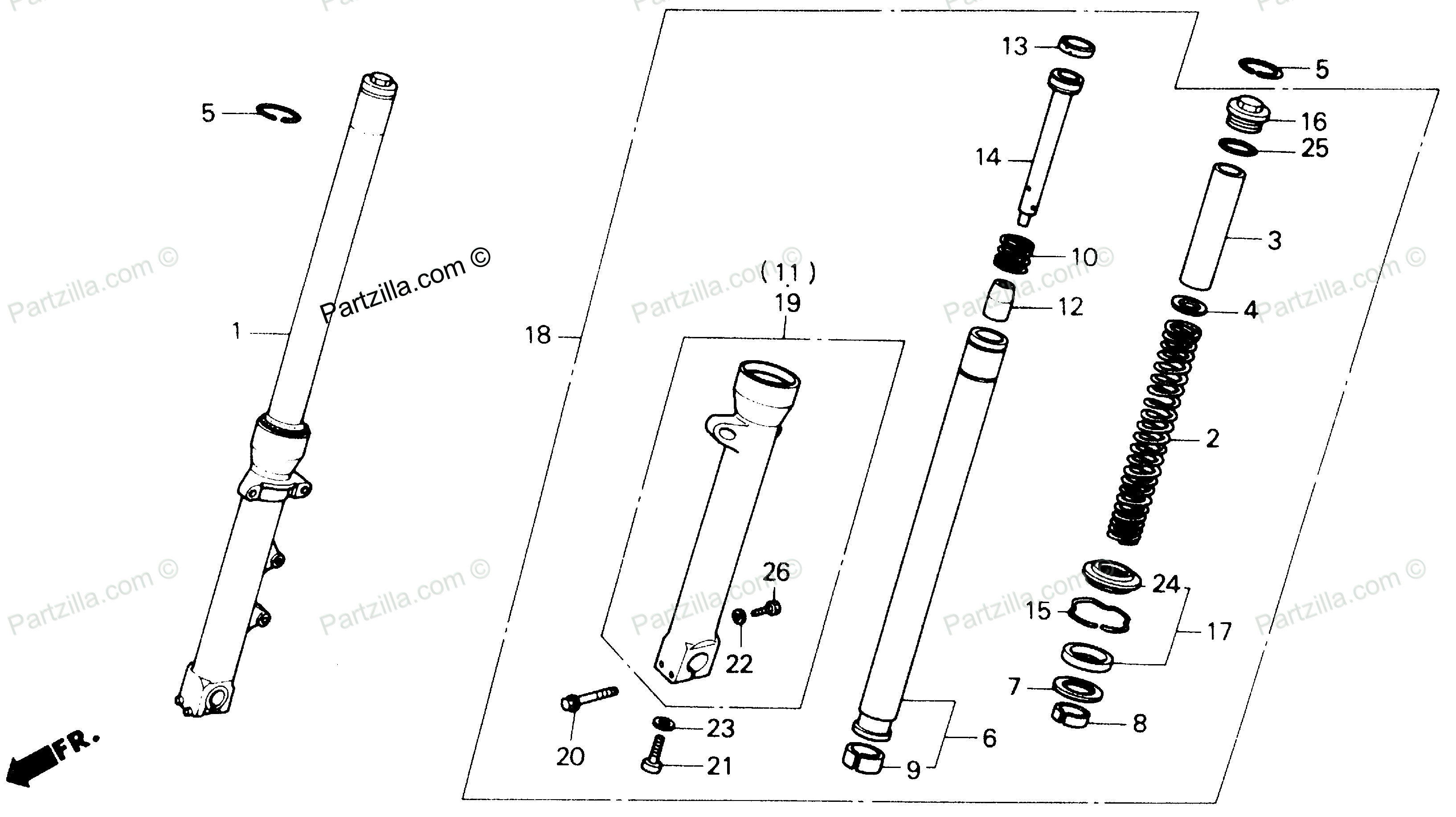 Bike Suspension Fork Parts Diagram, Bike, Free Engine