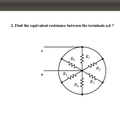 calculation equivalent resistance in a circuit with resistances connected in a circle closed  [ 1366 x 768 Pixel ]