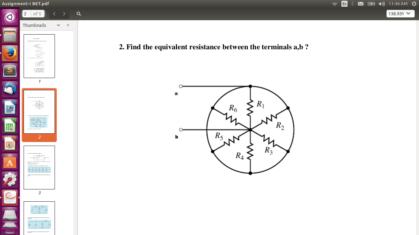 hight resolution of calculation equivalent resistance in a circuit with resistances connected in a circle closed