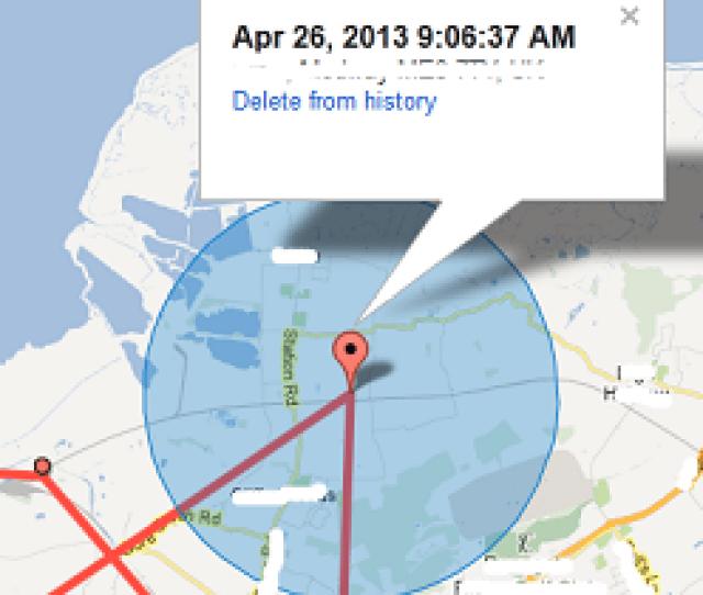 Location History Accuracy Circle