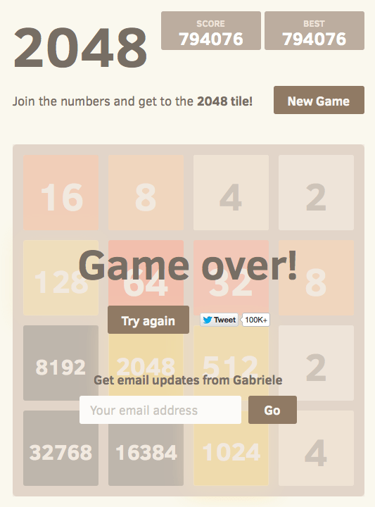 32768 tile, score 794076
