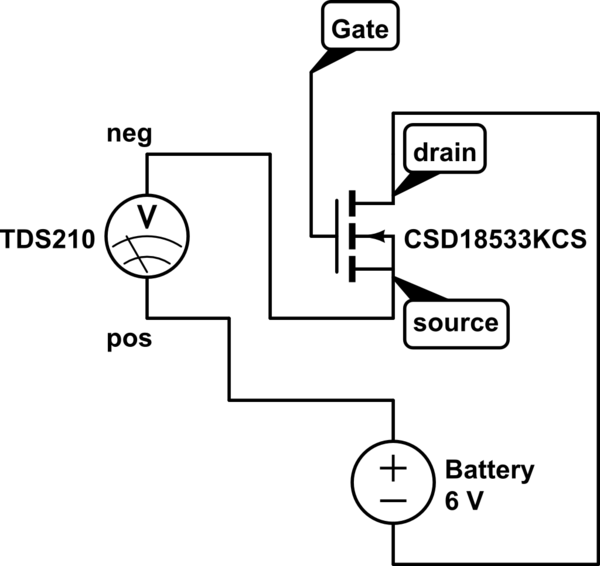 Can I bench test a N-channel MOSFET with battery