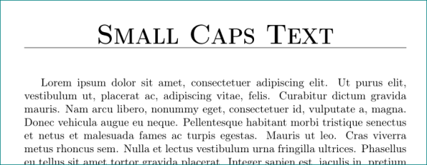 formatting - How to write in smallcaps in chead of article ...