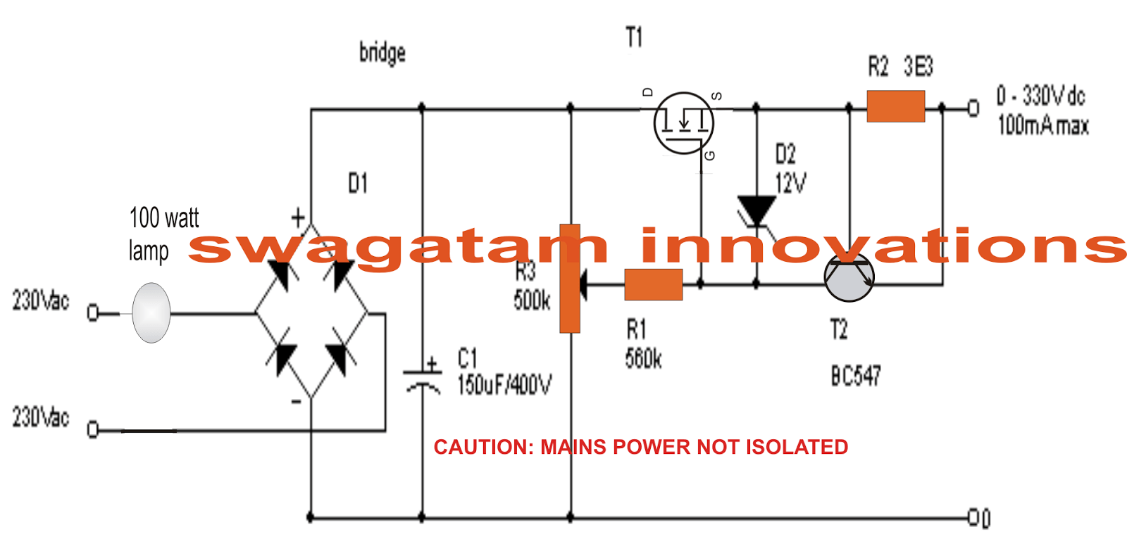 hight resolution of variable supply without a transformer