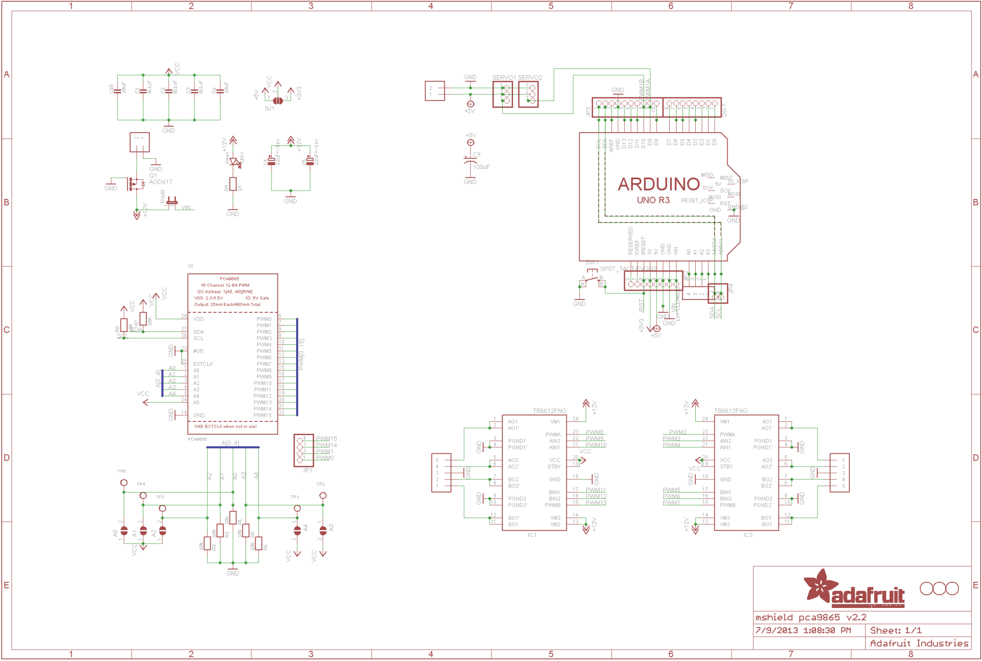 hight resolution of arduino uno schematic for the adafruit motor shield v2 3 arduino rh arduino stackexchange com arduino