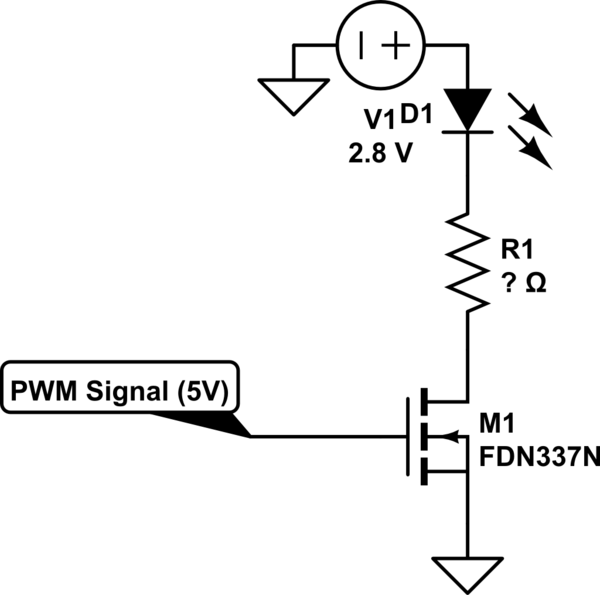 PWM of 2.8v LED input (high-side driver IC selection