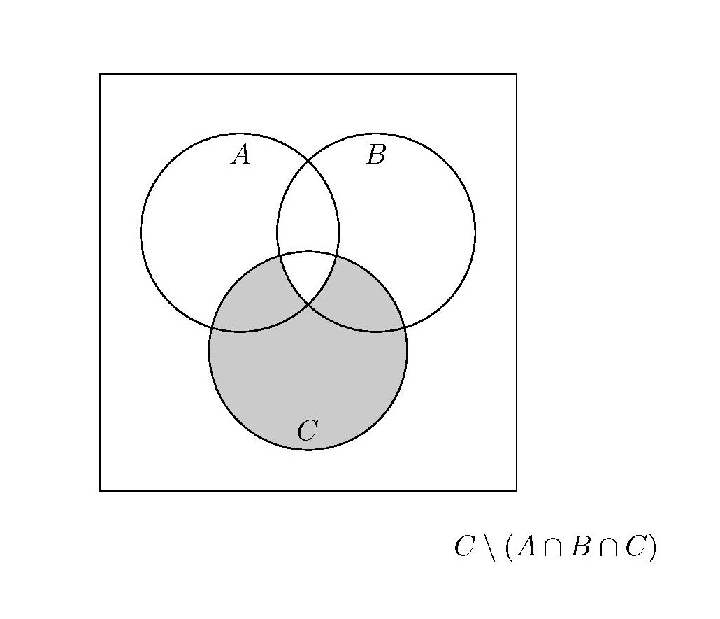 Venn Diagram In Latex For C Setminus A Cap B Cap C
