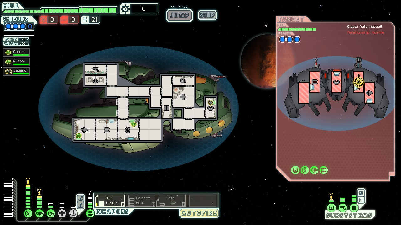 ftl faster than light  Is it possible to escape a fight