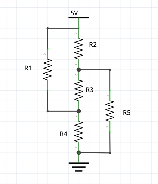 Calculate voltage, current and resistance in a complex
