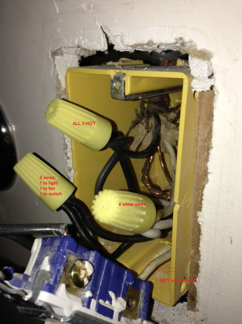 small resolution of enter image description here electrical wiring receptacle exhaust fan