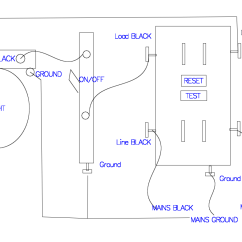 Power To Light Then Switch Diagram Winch Wiring 4 Solenoids Gfci Receptacle With A Fixture An On Off