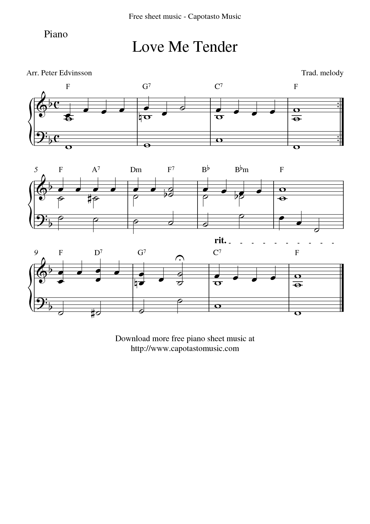 Sheet Music For Piano With Letters