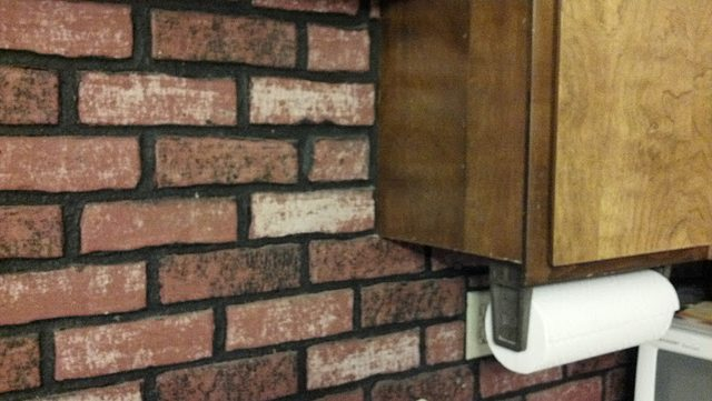 faux brick kitchen renovations how can i remove from a wall home improvement bricks 1