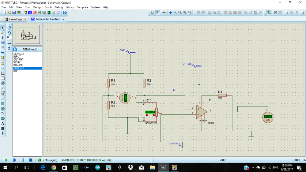 medium resolution of 2 wire rtd pt100 in a wheatstone bridge using ad620