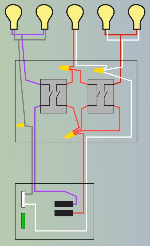 2 Lights 2 Switches : lights, switches, Lights, Switches, Light, Common, Both?, Improvement, Stack, Exchange