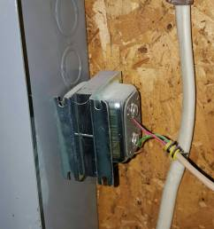 can a doorbell transformer sit loose inside main panel home thread wiring a disconnect box [ 1917 x 2357 Pixel ]