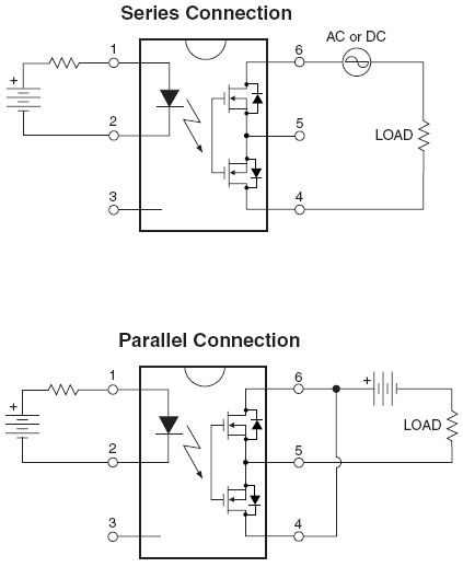 HSR412 (solid state relay) parallel circuit connection not