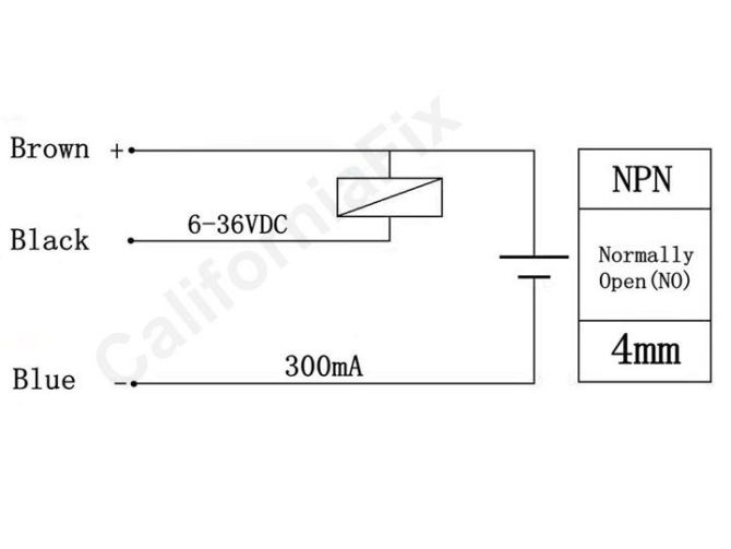how to connect a inductive proximity sensor switch npn dc6