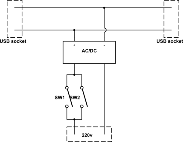 wiring diagram switch 1987 mustang dpst schematic all data power supply control 5vdc and 220vac electrical
