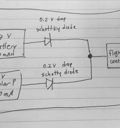 wiring battery and solar panel to drone to extend flight time schematic help [ 3470 x 2239 Pixel ]