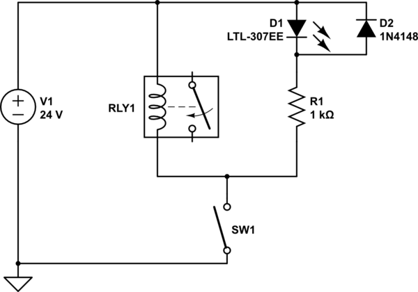 switching voltage in relay