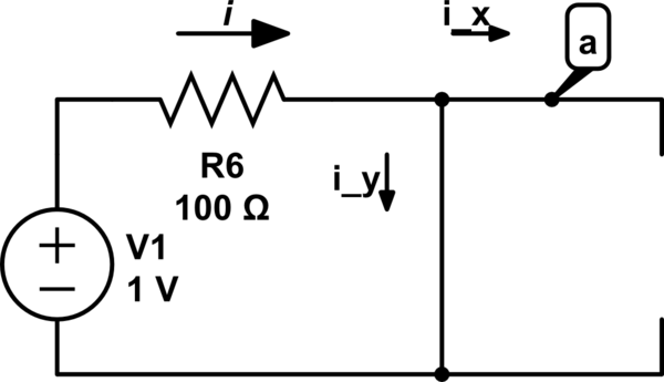 Why does not current flow in open circuit wire connected